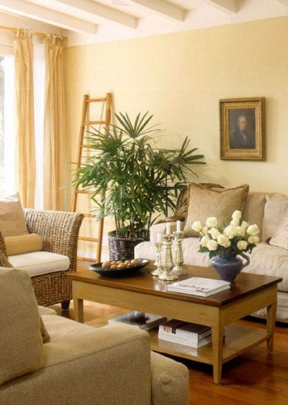 Yellow Living Room: Gorgeous Earthy Decor