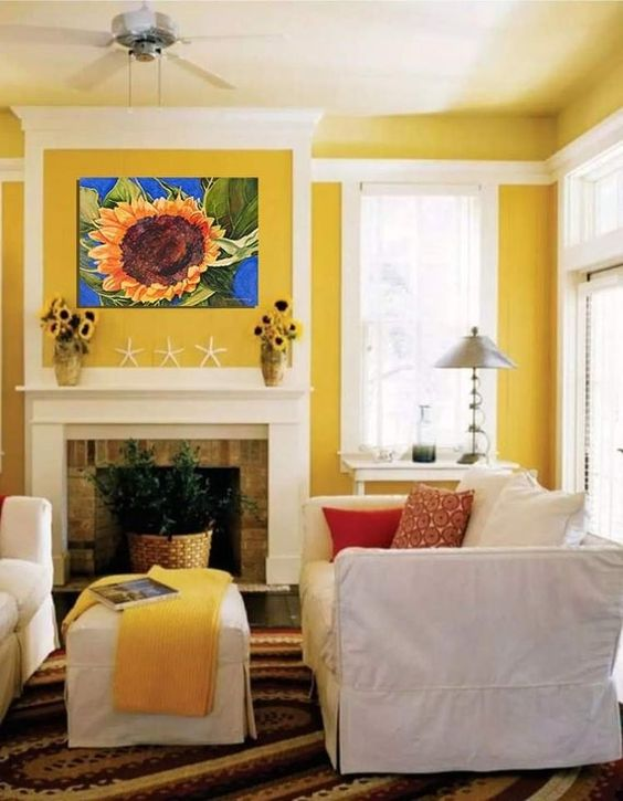 yellow living room ideas 20