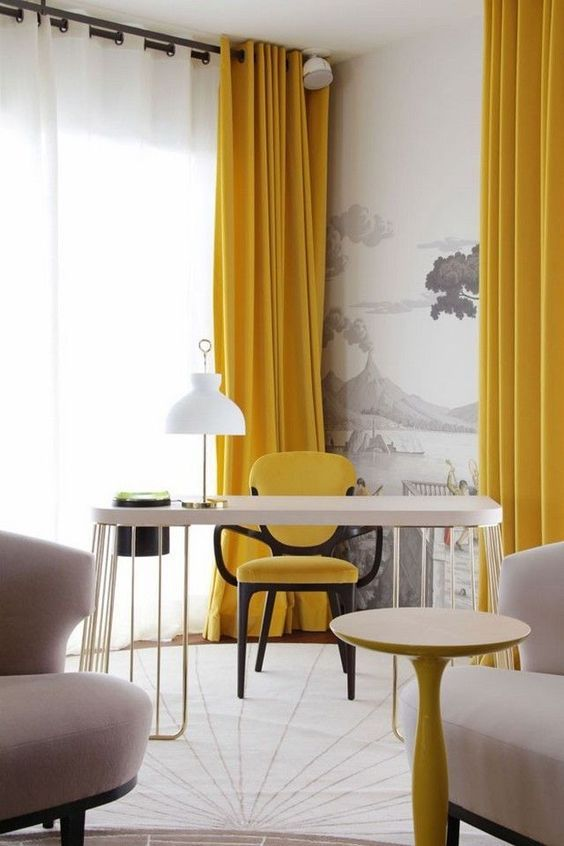 yellow living room ideas 21