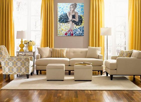 yellow living room ideas 25