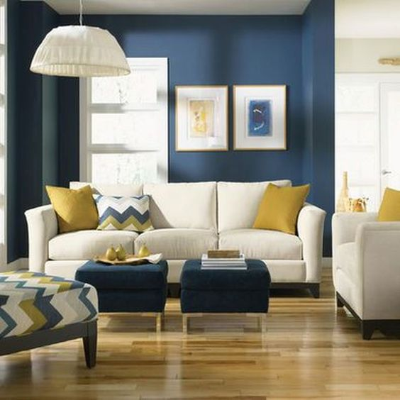 Yellow Living Room: Elegant Catchy Decor