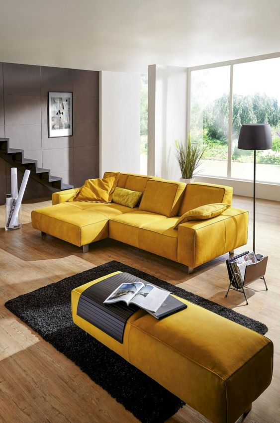 Yellow Living Room: Cozy Elegant Decor