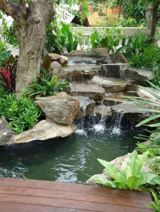 Backyard Water Feature 15