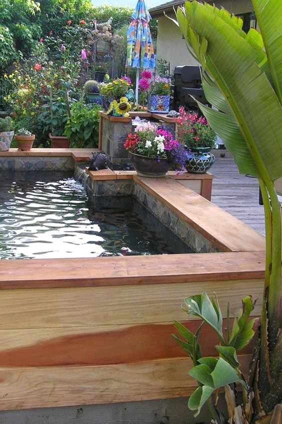 Backyard Water Feature: Above Ground Pond