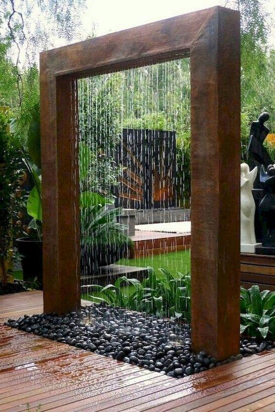 Backyard Water Feature: Stunning Rain Curtain