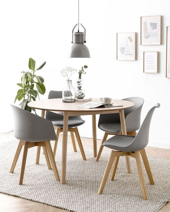Dining Room Apartment: Earthy Neutral Decor