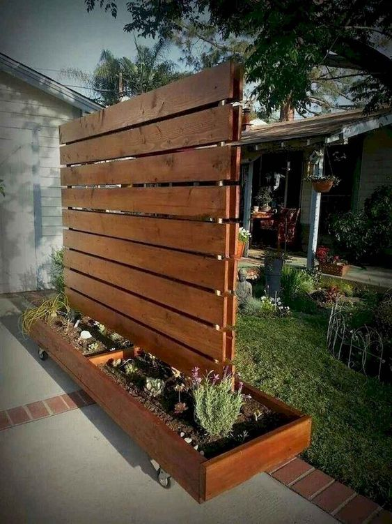 Patio Privacy Ideas: Portable Wood Screen