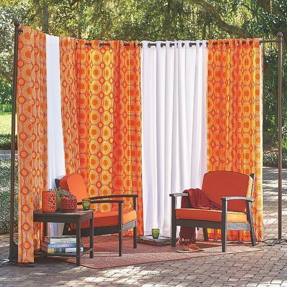 Patio Privacy Ideas: Catchy Curtain Screen