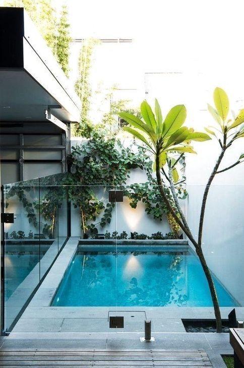 Swimming Pool Decorations: Modern Earthy Decor