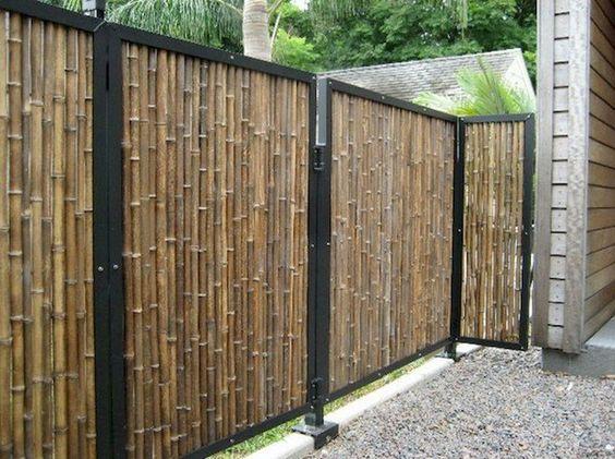 bamboo fence ideas 23