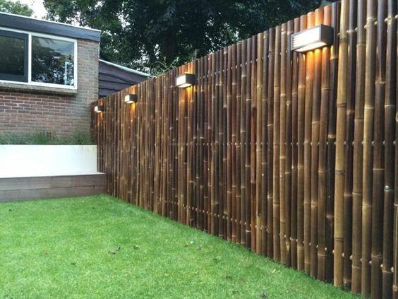 Bamboo Fence Ideas: Simple Modern Design