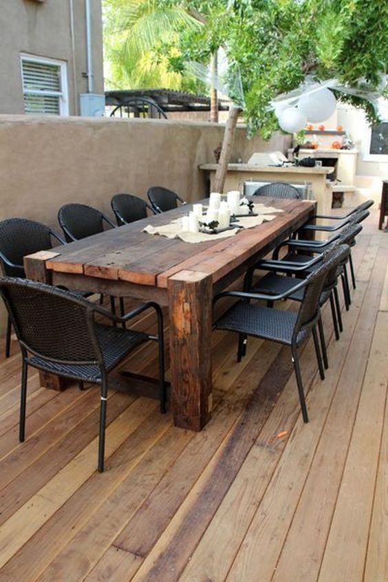 Patio Dining Ideas: Bold Rustic Design