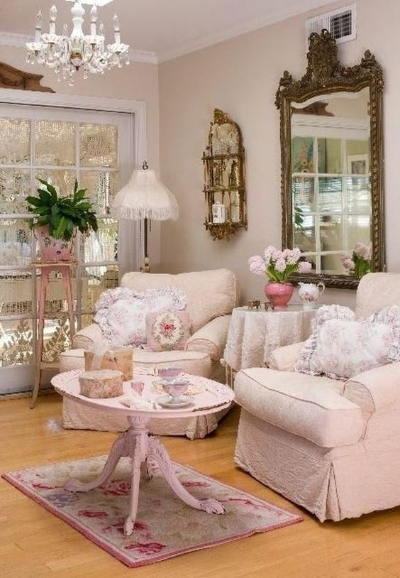 Shabby Chic Living Room: Warmly Cozy Decor