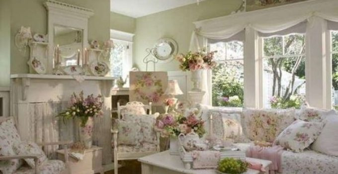 shabby chic living room feature