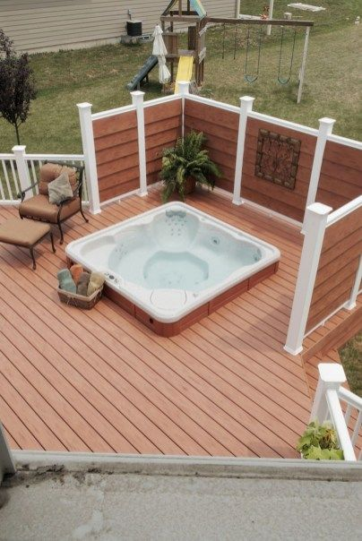 Sunken Hot Tub: Gorgeous Earthy Design