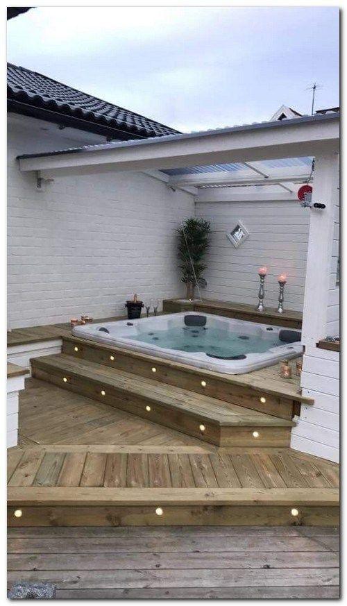 Sunken Hot Tub: Chic Small Deck