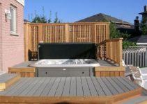 sunken hot tub feature