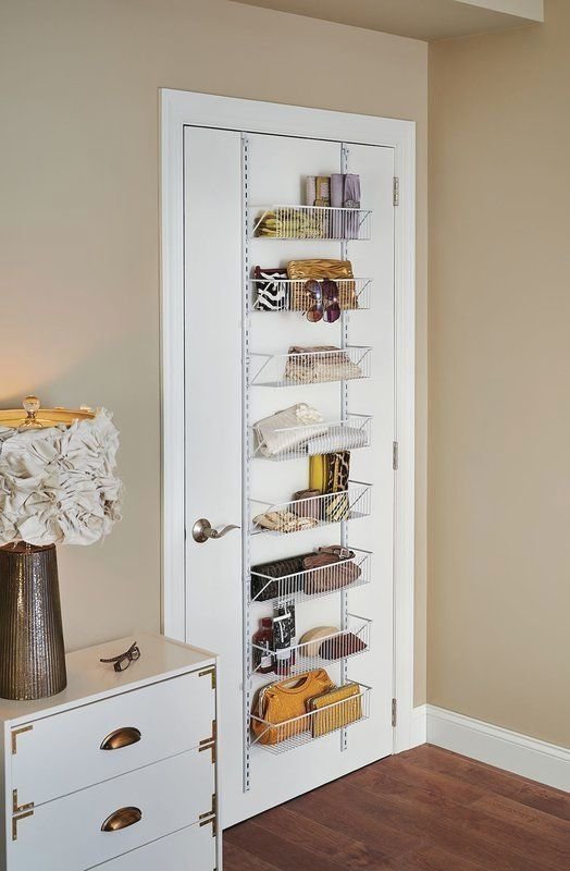 Bedroom Storage Ideas: Sleek Overdoor Shelf