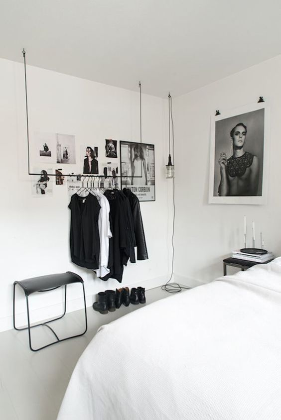 Bedroom Storage Ideas: Floating Clothes Hanger