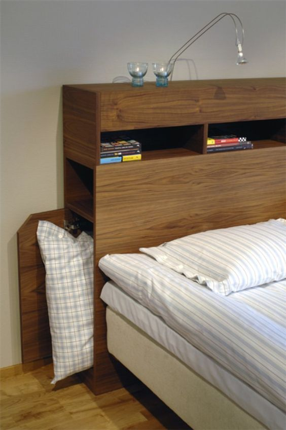 Bedroom Storage Ideas: Sleek Storage Headboard