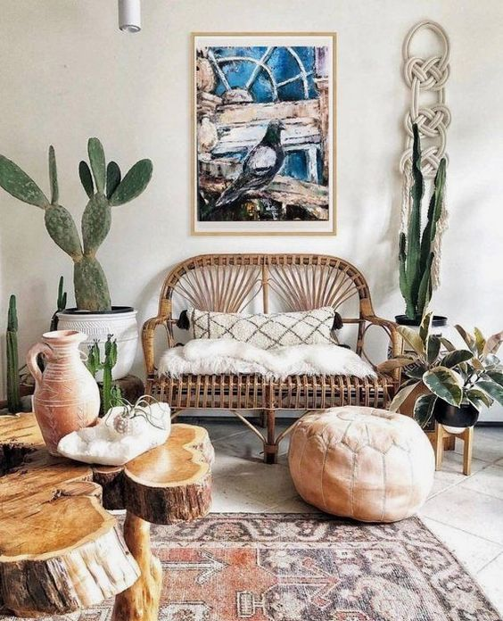 Living Room Plants Ideas: Catchy Country Decor