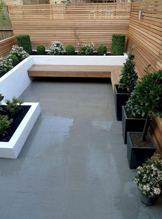 Small Backyard Ideas: Modern Earthy Decor