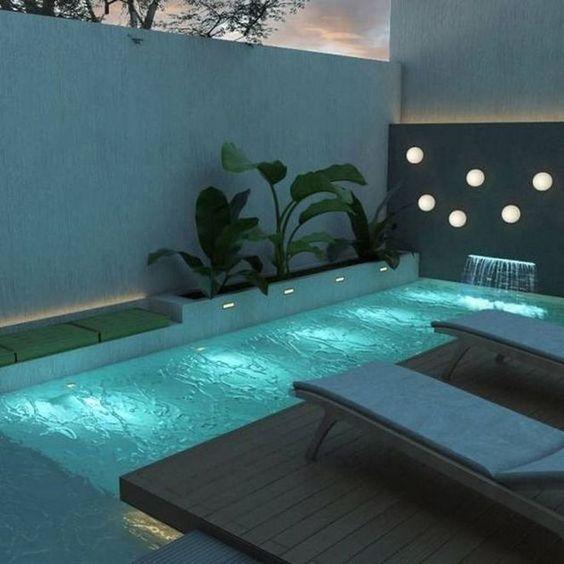 Swimming Pool Lighting Ideas: Chic Complete Lighting