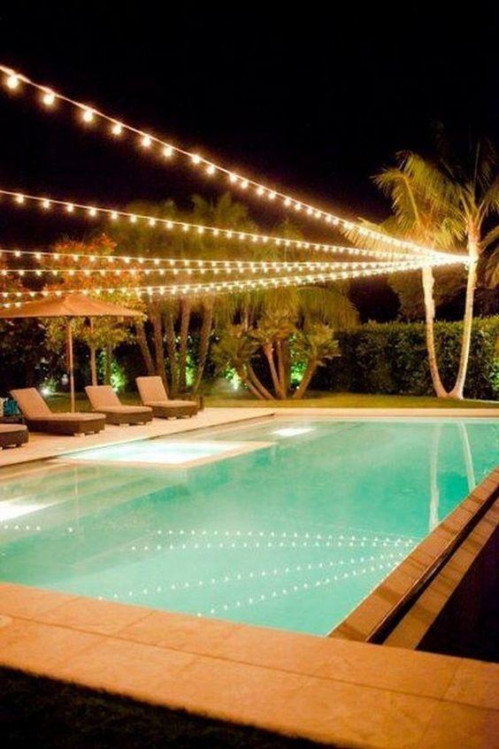 Swimming Pool Lighting Ideas: Catchy Stylish Lighting