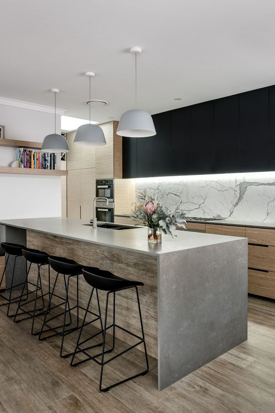 Contemporary Kitchen Ideas: Modern Rustic Decor