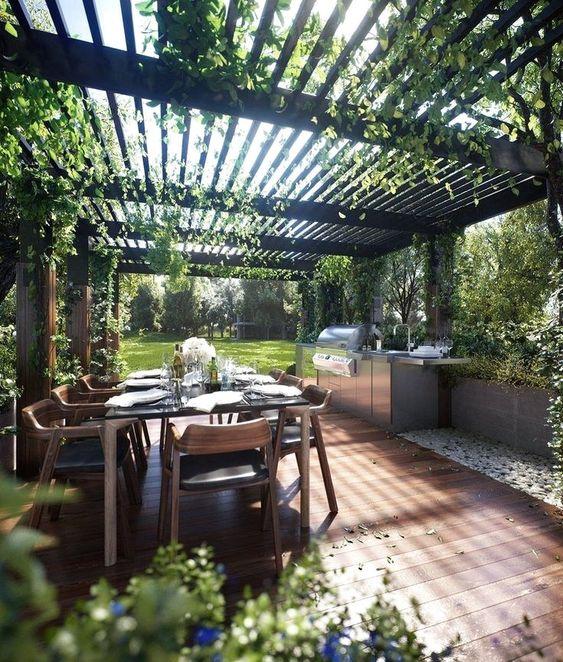 Backyard Dining Ideas: Modern Earthy Design