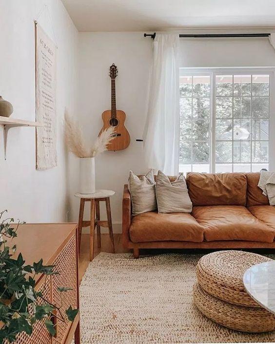Elegant Living Room Ideas: Earthy All-White Decor