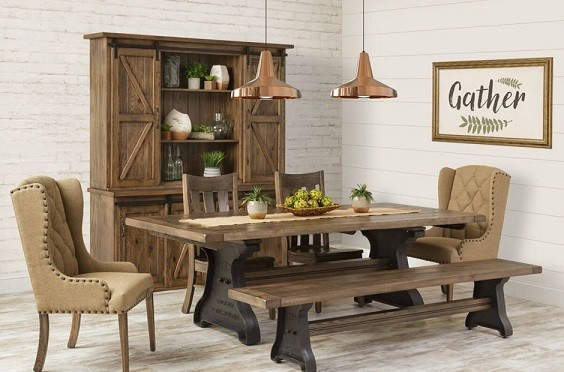 Farmhouse Dining Room Table & Chairs