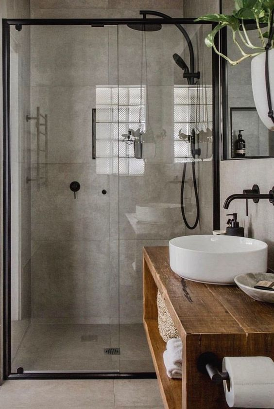 Industrial Bathroom Ideas: Simple Elegant Decor