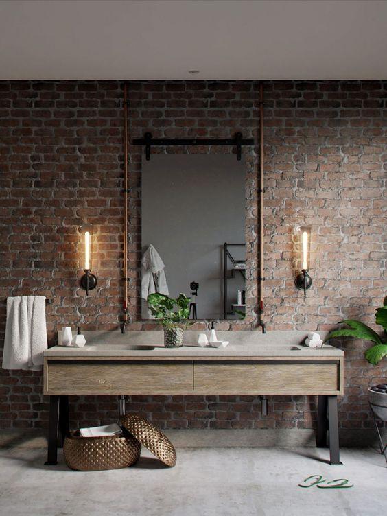 Industrial Bathroom Ideas: Enchanting Rustic Decor