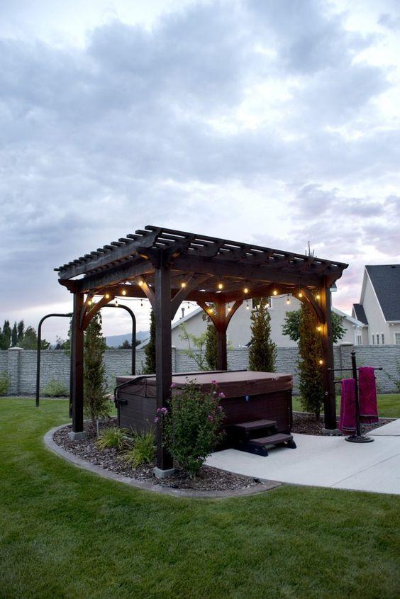 Luxury Hot Tub: Cozy Backyard Patio