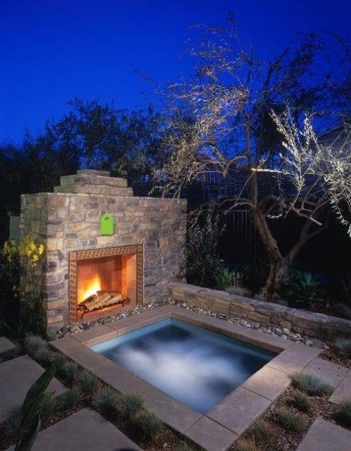 Luxury Hot Tub: Stunning Rustic Patio