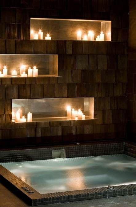 Hot Tub Bathroom: Gorgeous Earthy Design