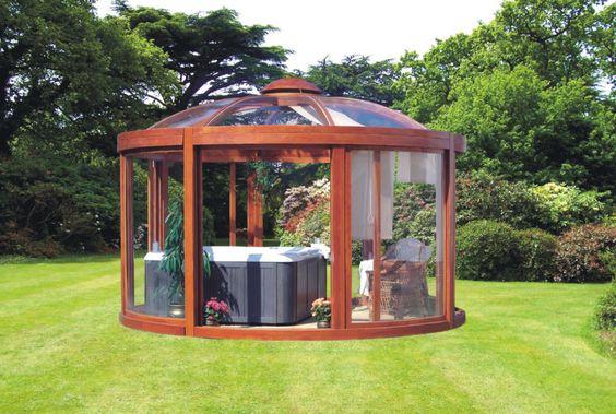 Hot Tub Outdoor: Cozy Joyful Gazebo
