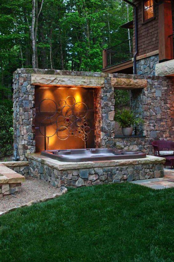 Hot Tub Outdoor: Gorgeous Earthy Decor