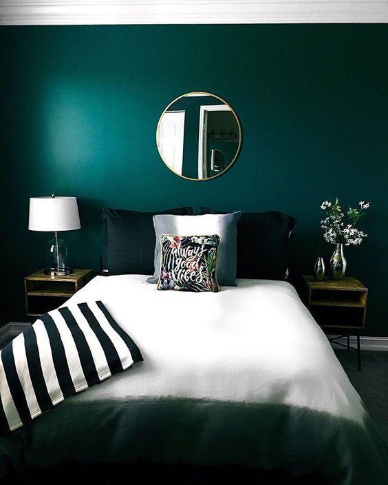 Contemporary Bedroom Ideas: Simple Bold Decor