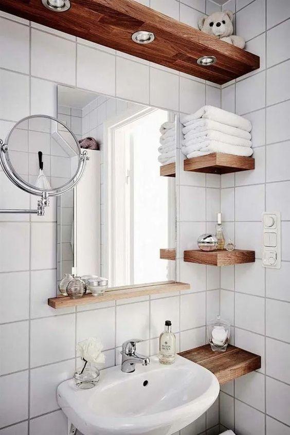 Bathroom Shelves Ideas: Simple Floating Shelves