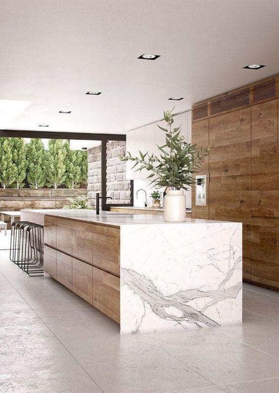 Kitchen Marble Ideas: Modern Earthy Kitchen