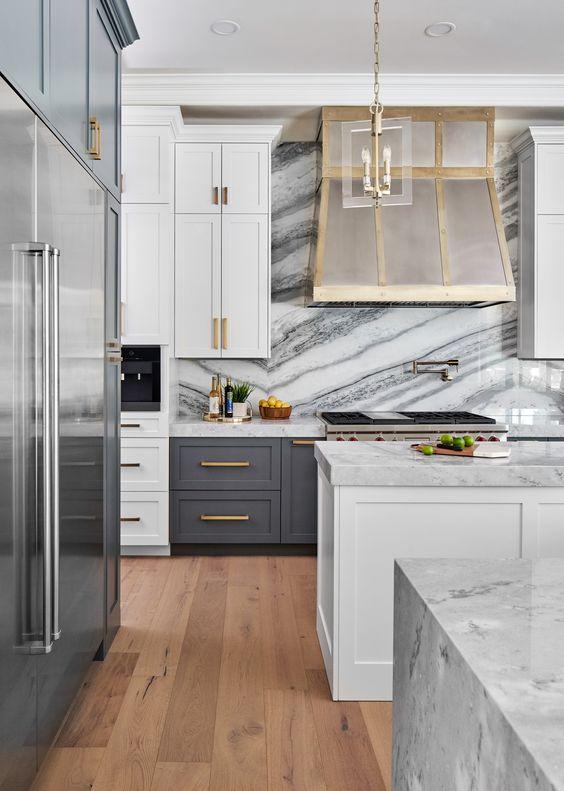Kitchen Marble Ideas: Exquisite White Marble