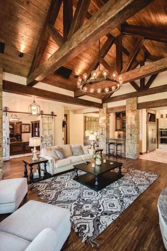 rustic living room ideas 13