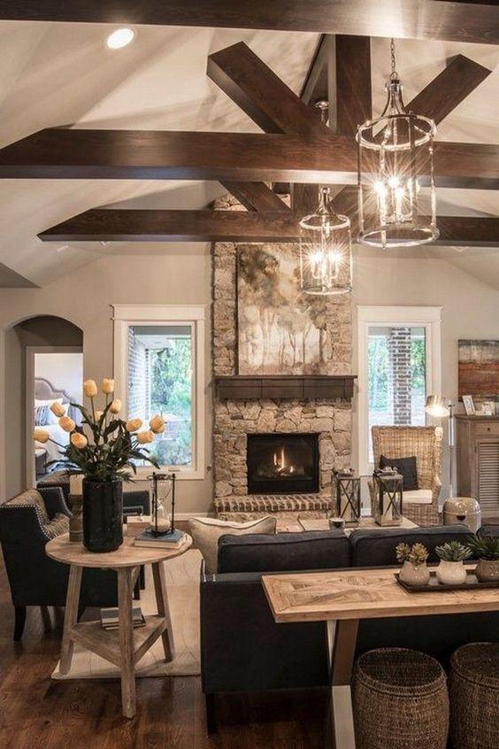 rustic living room ideas 17