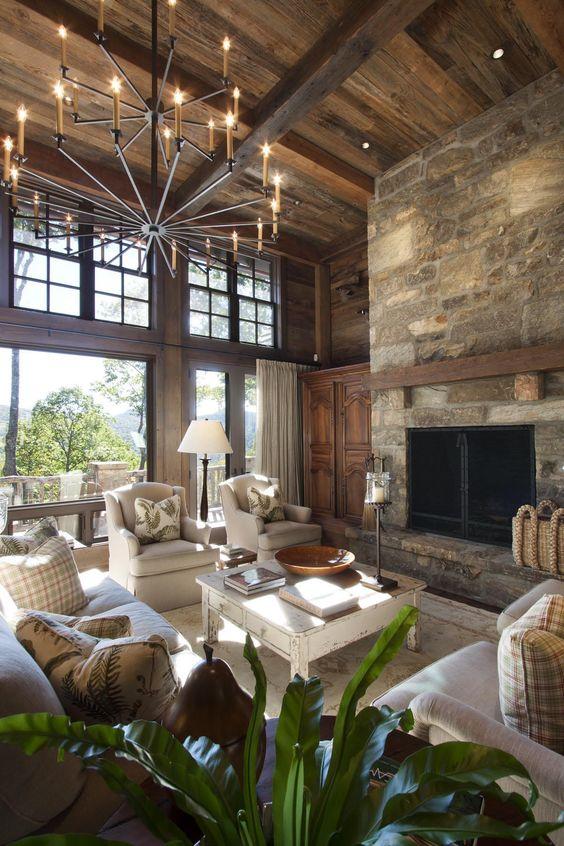 rustic living room ideas 19