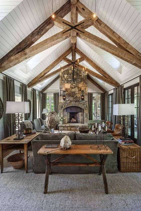 rustic living room ideas 9