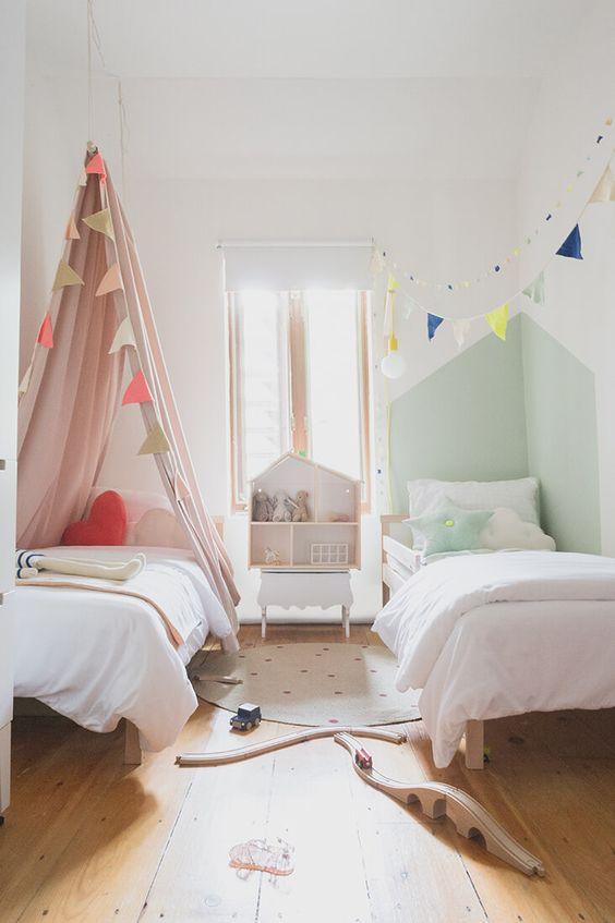 Kids Bedroom Ideas: Minimalist Twins Bed