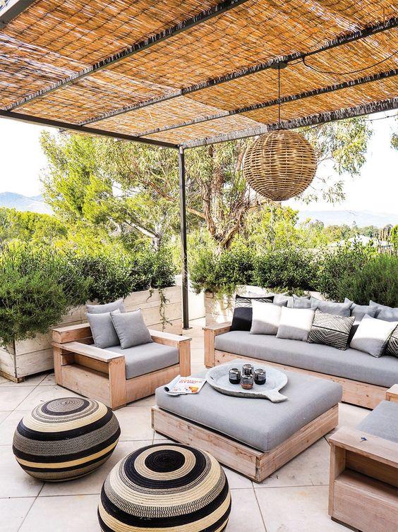 Patio Seating Ideas: Minimalist Farmhouse Spot