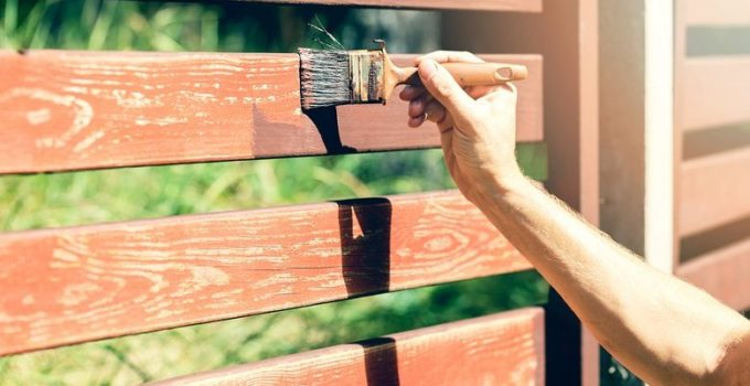 how stain a fence